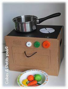 Cuisiniere En Carton Pour Enfant Diy Dinette Cuisine Cuisine En