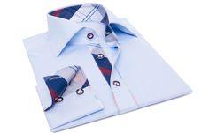 Chemise homme Tutty-Frutty ciel doublure à carreaux, Chemises cintrées - Chemise Homme