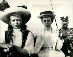Maria Nikolaevna with a lady and an officer