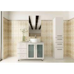 JWH Living Lune 39 in. Single Bathroom Vanity - White - JWH-4012