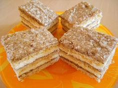 Habos-diós szelet Poppy Cake, Cookie Recipes, Dessert Recipes, Hungarian Recipes, Hungarian Food, Muffin, Food And Drink, Bread, Baking