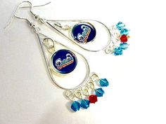 Miami Dolphins Football Earrings  Football Mom  Team