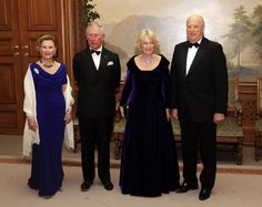 The King and Queen of Norway with the Prince of Wales and Duchess of Cornwall.