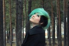 Green with black sidecut