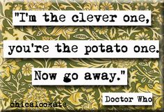 Doctor Who Clever One Quote Magnet or Pocket by chicalookate, $4.00 this as a mirror with one of strax's funny quotes preferably one that has the words obliterate, grenade, or human scum in it :)
