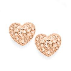 Fossil Glitz Heart Studs, JF01151| FOSSIL® Jewelry