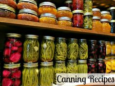 canning recipes- lots of canning recipes, including lots of different types of jams!