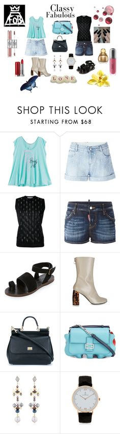 """Classy 😀😀😀"" by jamuna-kaalla ❤ liked on Polyvore featuring Wildfox, STELLA McCARTNEY, 08 Sircus, Dsquared2, Free People, Dolce&Gabbana, Fendi, Katerina Psoma, Kapten & Son and vintage"