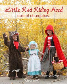 #Kostüm : #Rotkäppchen, Wolf und Großmutter; #costume idea by make it & love it