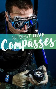 Using a dive compass underwater saves you stress and confusion in trying to navigate. But which should you buy? We've reviewed the best dive compass to make choosing the right one easier for you.  #scubadiving Scuba Diving Gear, Confusion, Snorkeling, Compass, Underwater, Stress, Ocean, Diving Equipment, Diving