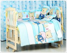 79.90$  Watch here - http://ali9y9.worldwells.pw/go.php?t=32343934717 - Promotion! 10PCS Baby bedding set crib bedding set 100% cotton baby bedclothes,unpick(bumpers+matress+pillow+duvet)