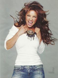 Thalia in Glamour Hair and Makeup by Rob Scheppy