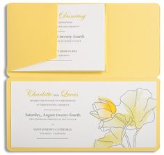 """""""Charlotte & Lucas"""" wedding invitation from Marsupial Invitations is customizable for ink and pocket colors. Customize yours with Paper Passionista."""