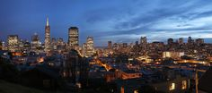 san Francisco cityscape | Evening Shot of the San Francisco Skyline from Coit Tower