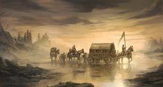 Crossing Mummer's Ford - A Game of Thrones TCG by jcbarquet.deviantart.com on @deviantART