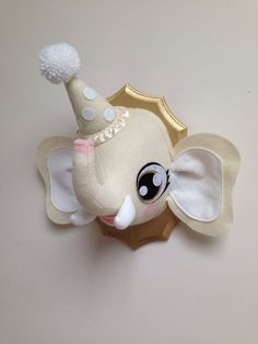 Cute Circus Elephant Faux Taxidermy  by MisfitMenagerie on Etsy