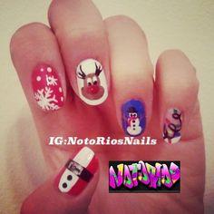 Festive nails follow me on Instagram/twitter/Facebook @Nikki Rios