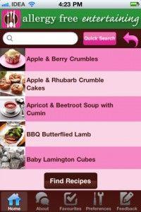 Allergy aware recipes courtesy of Allergy Free Entertaining app
