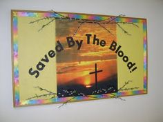 Easter Bible Bulletin Boards, Creative Bulletin Boards, Christian Bulletin Boards, School Bulletin Boards, Sunday School Classroom, Classroom Ideas, Great Works Of Art, Church Crafts, Vacation Bible School
