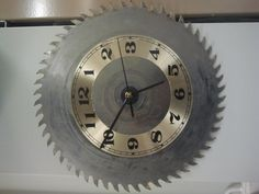 Clock. A New use for an old saw blade.