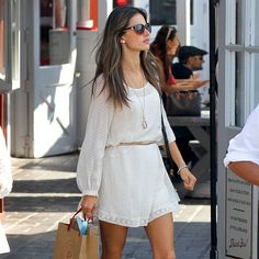 Cute white dresss from @POPSUGAR Fashion–perfect for warm weather days.