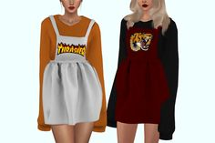 "plumboby: "" plbsims' love scenario dress it has some glitches under the arms and on the elbows (you can hide them by painting on them in photoshop like i did oops) .. i've tried to fix this, it's..."