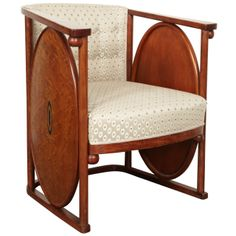1900 Koloman Moser and Josef Hoffmann Art Nouveau Armchair. See my board Jugendstil und Secession for more by these two designers. Koloman Moser, Silla Art Deco, Furniture Styles, Furniture Design, Vintage Furniture, Modern Furniture, Design Art Nouveau, Art Deco Chair, Art Nouveau Furniture