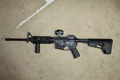Here's my update after 'installing' the GunSkins on my M&P-15 Sport and taking it to the range today. I chose the M&P 15 Sport as my 'test bed' because I was planning on painting it with Aluma-Hyde 2 this fall, so if the GunSkins mess up the finish on the rifle then I don't really care - it will be painted anyway.