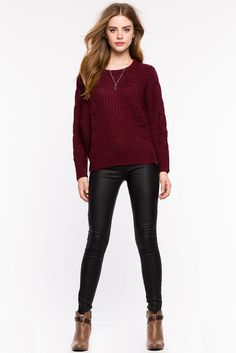 Cable Knit Dolman PulloverCable Knit Dolman Pullover