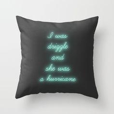 Hurricane Throw Pillow. John Green.