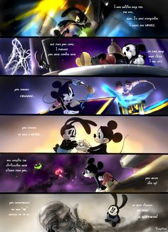 as he wanted us to be | by twisted-wind @ DeviantART.com // #disney; epic mickey; oswald the lucky rabbit