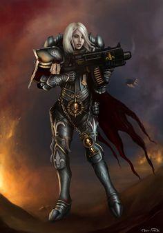 Warhammer40k: Sister of Battle by Jorsch.deviantart.com on @deviantART