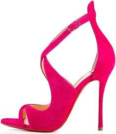 a05d067dfd3c Christian Louboutin  Malefissima  Crisscross 100mm Red Sole Sandals
