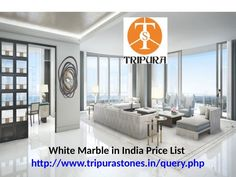 White Marble in India Price List White Marble in India Price List http://www.tripurastones.in/query.php  The cost of White Marble is less than the cost of Italian Marble Tiles/ Slabs. Reason being White Marble is abundantly available in India and in fact India has monopoly in White Marble and are exported to many developed countries with high price range.  White Marble Mines are abundantly found in Rajasthan, India. Rajasthan have many districts where variety of White Marble is available…