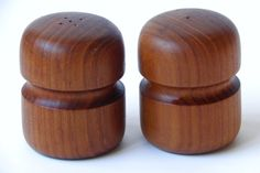Mid Century Modern Danish Teak Salt and Pepper by EdibleComplex, $20.00