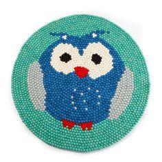 Owl Felt Ball Rug from Rugthis Owl Felt, Felt Ball Rug, Custom Rugs, Kids Rugs, Design, Home Decor, Decoration Home, Kid Friendly Rugs, Room Decor