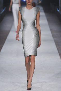 Alexander McQueen Striped column dress
