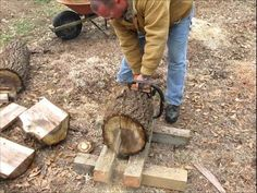 #17 Bowls from Logs Part 1 Cutting Blanks from Logs - YouTube