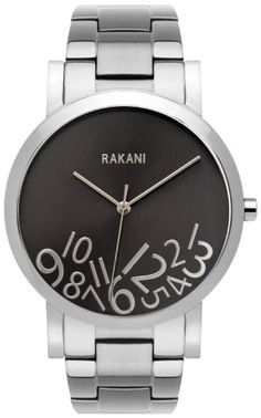 Rakani What Time? 40mm Silver on Titanium Watch with Stainless Steel Band Rakani - Fashionably Late Collection $180.00 http://www.amazon.com/dp/B00EMPC5UW/ref=cm_sw_r_pi_dp_c2hOtb0G02Z2CB0J bookmark us please at www.webshoppingmasters.com/salter3811