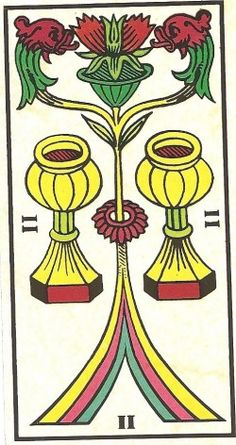 Arcano Menor - II de Copas Carta Tarot para 01 e 02-11-2014 Hoje o dia é de partilha, de entrega e de harmonia. O dois de copas, carta tarot para hoje, vem