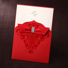 Red is always in! Go for this sleek, beautiful and totally posh wedding invitation!