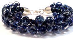Blue Unicorne Bubble Kumihimo Bracelet by sparkleezcrystals, $50.00