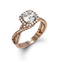 2b79168a7c49d7 Simon G Monmouth Halo Engagement Ring Setting - Barsky Diamonds Elegant  Engagement Rings, Engagement Ring