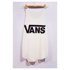 VANS Tank Top Sport Woman White Cream T-Shirt Tee Shirt Singlet Vest BUY 2 GET 1 Free by pingypearshop on Etsy https://www.etsy.com/listing/208252359/vans-tank-top-sport-woman-white-cream-t