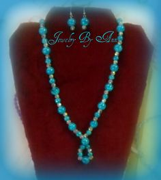 Trendy & Unique earring & necklace set designed & created by Ann Ray. $10.00 + S&H. PayPal. contact info: annray253@bellsouth.net & 229-460-0051