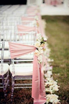 Pink - ceremony sitting - wedding  -