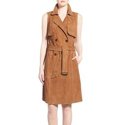 tan trench dress