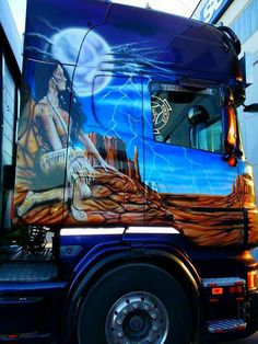 SCANIA large scale airbrush work