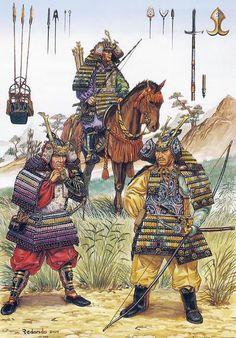 • Samurai archer on horseback, Kamakura period  • Taira Masakado  • Minamoto Yoshitsune  José Ignacio Redondo
