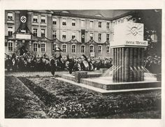 1933- More than 100,000 National Socialists of Germany from Upper Silesia gathered for the unveiling of the Horst Wessel Fountain at Beuthen.